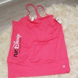 Run Disney champion hot pink tank top NWT medium